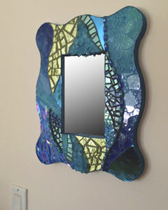 mosaic art mirror - Teal Harbor