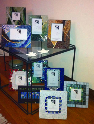 holiday mosaic picture frames
