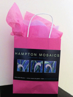 hampton mosaics pink packaging for breast cancer awareness fundraiser