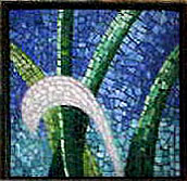 vine abstraction glass mosaic left panel