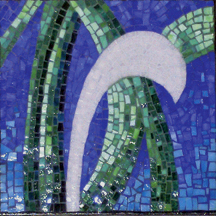 Vine Trilogy mosaic triptych - center panel