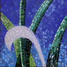 Vine Trilogy Mosaic Triptych - left panel