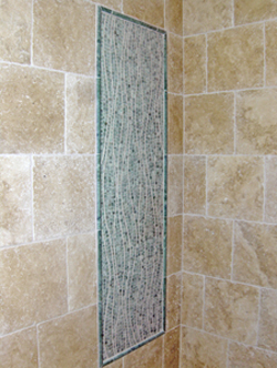 wave-mosaic shower panel